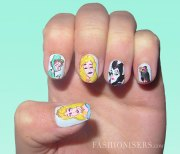 cute cartoon inspired nail art
