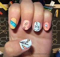 12 Cute Back To School Nail Art Designs | Fashionisers
