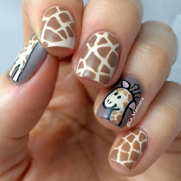 Pink Autumnal Nails Easy Nail Art Designs For Short