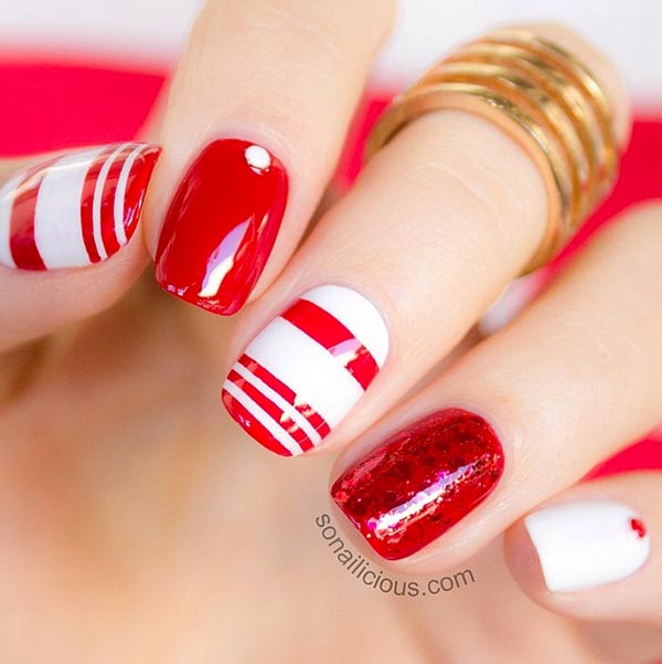 Simple Red Nail Art Designs Ideas For S