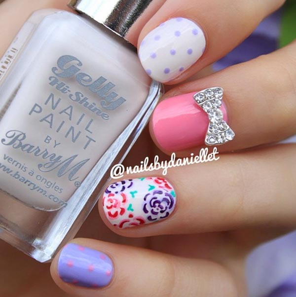 101 Cly Nail Art Designs For Short Nails Fashionisers Graffiti Tutorial