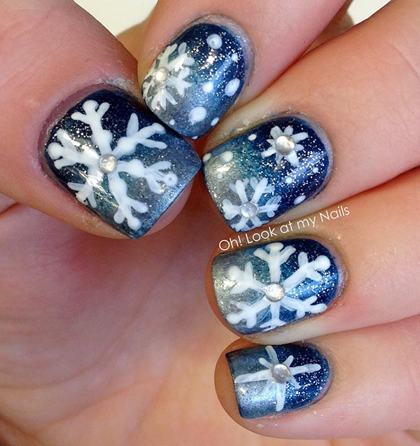 Cute 2016 Christmas French Nails Art For Short