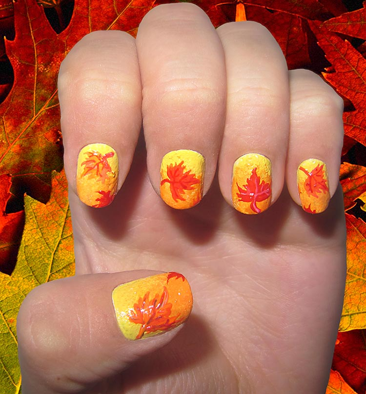 Ombre Fall Nail Art Designs