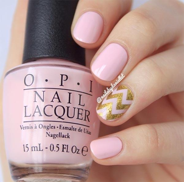 Kbshimmer Spring 2014 Chevron Dot Nail Art Easter Design: 101 Classy Nail Art Designs For Short Nails