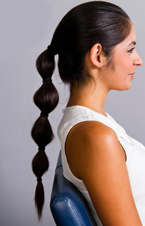 8 Easy and Cute Hairstyles for Lazy Girls: Banded Ponytail