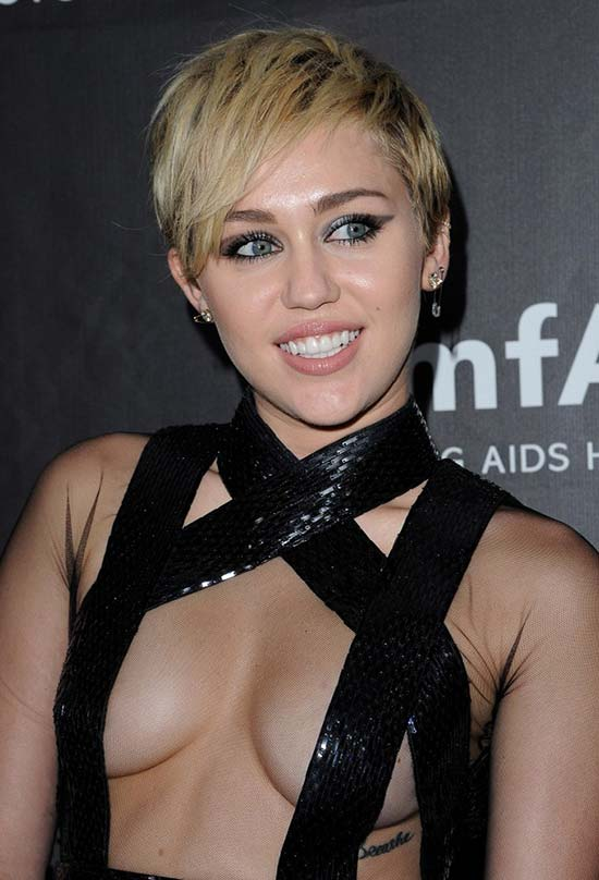 Glam Short Holiday Hairstyles: Miley Cyrus