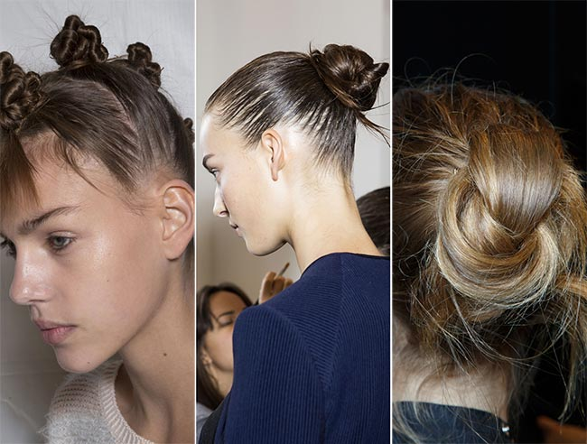 Spring/ Summer 2015 Hairstyle Trends: Buns, Knots and Twists