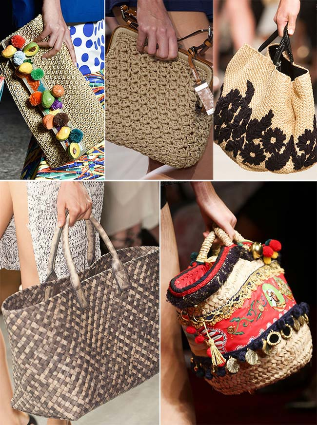 Spring/ Summer 2015 Handbag Trends: Woven and Straw Bags