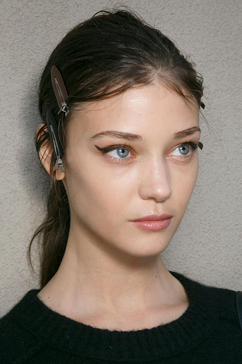 Spring/ Summer 2015 Trendy Ponytail Hairstyles: Prada Ponytails With Flyaways