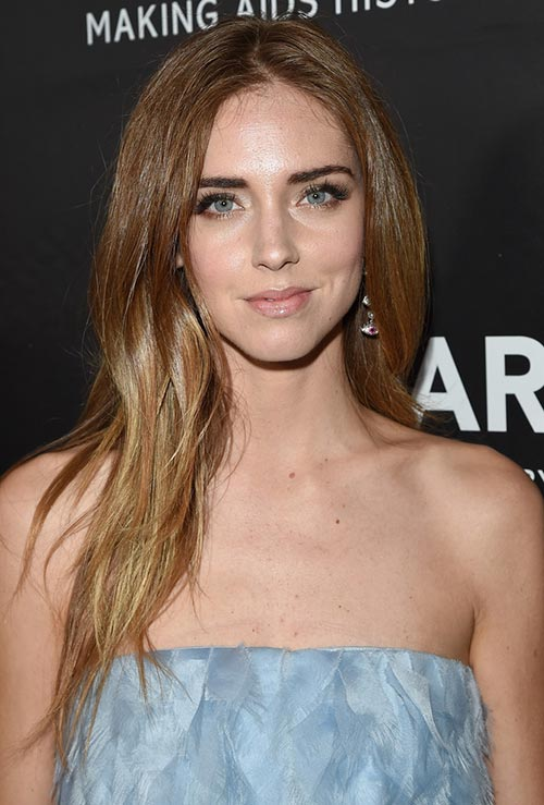 Strawberry Blonde Hair Colors: Chiara Ferragni