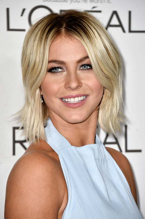 20 Stylish Ways to Wear Center Part Hairstyles: Julianne Hough