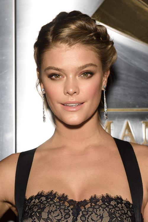 10 Trendy Braided Holiday Hairstyles: Nina Agdal Braided Updu
