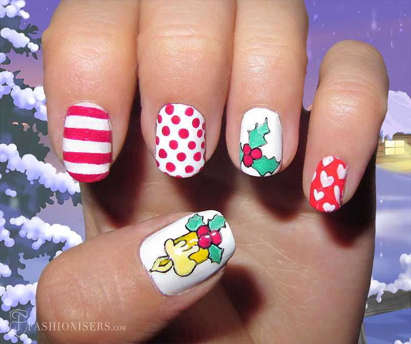 19 Unique Holiday Nail Art Designs: Christmas Candle Nails