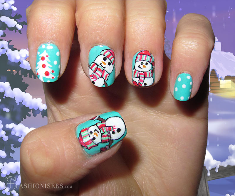 19 Unique Holiday Nail Art Designs: Snowman Nails