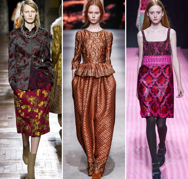 Fall/ Winter 2015-2016 Fashion Trends: Brocade