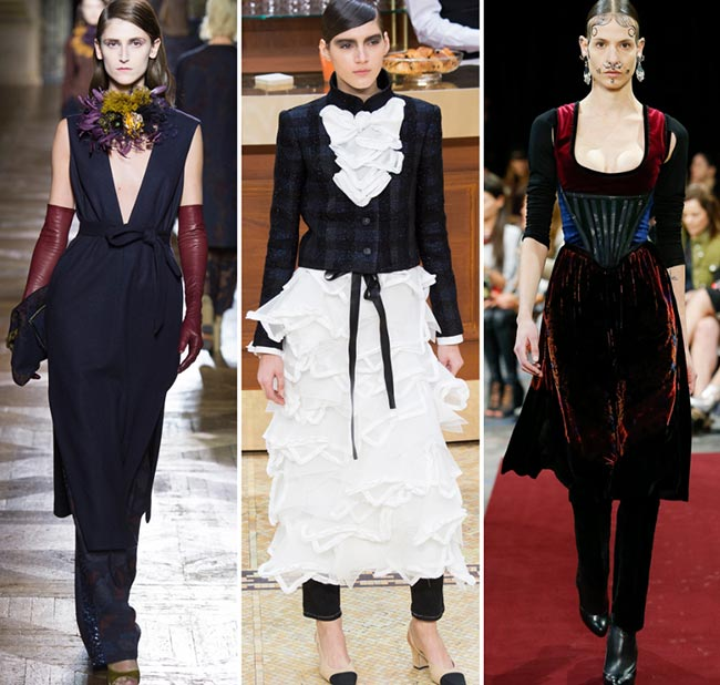 Fall/ Winter 2015-2016 Fashion Trends: Skirts and Dresses Over Pants