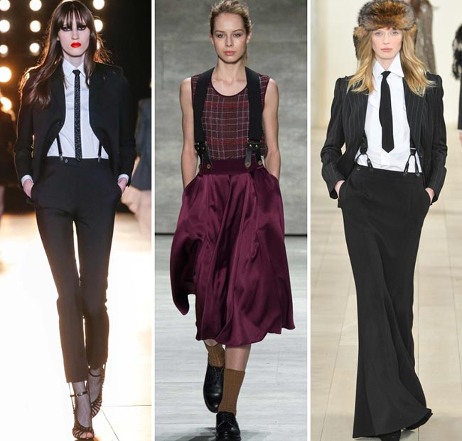 Fall/ Winter 2015-2016 Fashion Trends: Suspenders