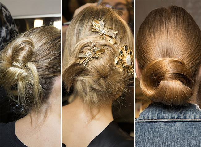 Fall/ Winter 2015-2016 Hairstyle Trends: Buns and Knots