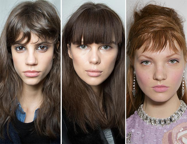 Fall/ Winter 2015-2016 Hairstyle Trends: Bangs