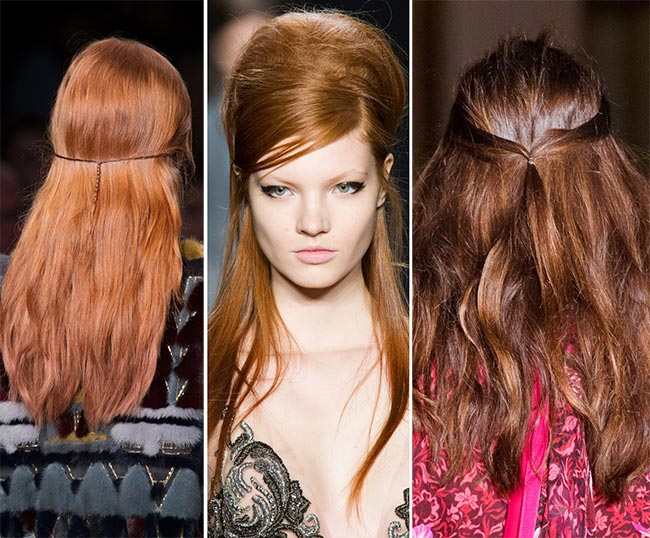 Fall/ Winter 2015-2016 Hairstyle Trends: Half-Up Half-Down Hair