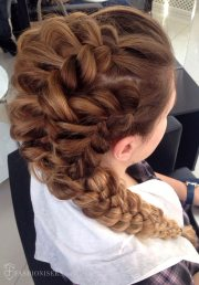 pretty braided hairstyles prom