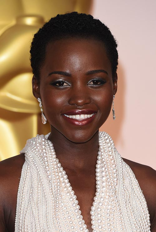 Short Hairstyle Ideas: Lupita Nyong'o Short Curly Hair