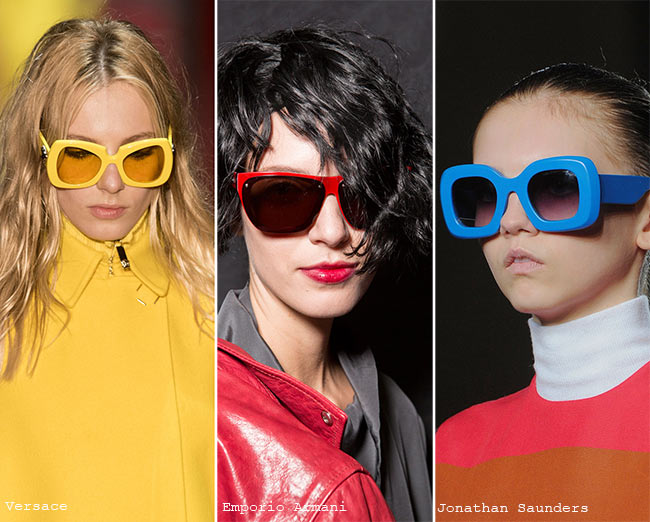 Fall/ Winter 2015-2016 Eyewear Trends: Sunglasses With Colorful Frames