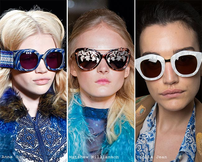 Fall/ Winter 2015-2016 Eyewear Trends: Sunglasses With Marble Frames and Embellishments