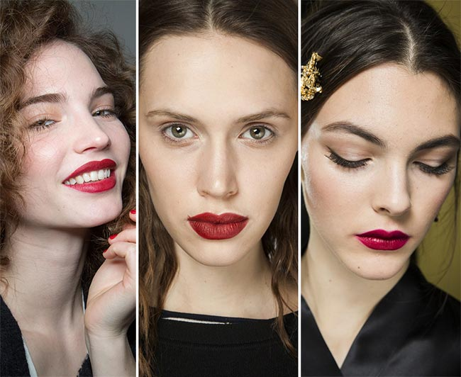Fall/ Winter 2015-2016 Makeup Trends: Red Lips