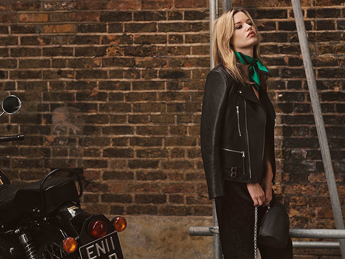 Georgia May Jagger for Mulberry Biker Collection