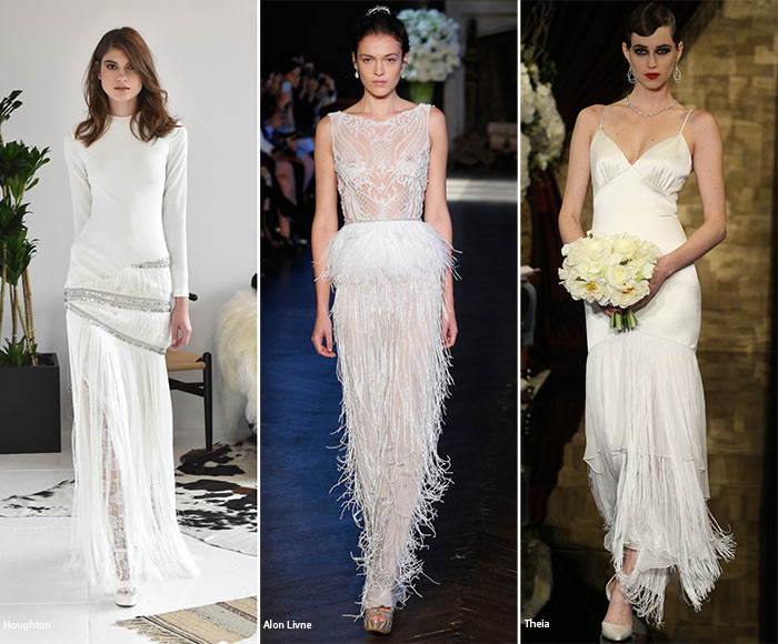 Fall 2016 Bridal Trends: Wedding Dresses with Fringes
