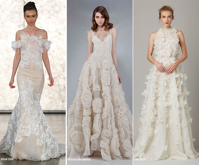 Fall 2016 Bridal Trends: Wedding Dresses with 3D Floral Appliques