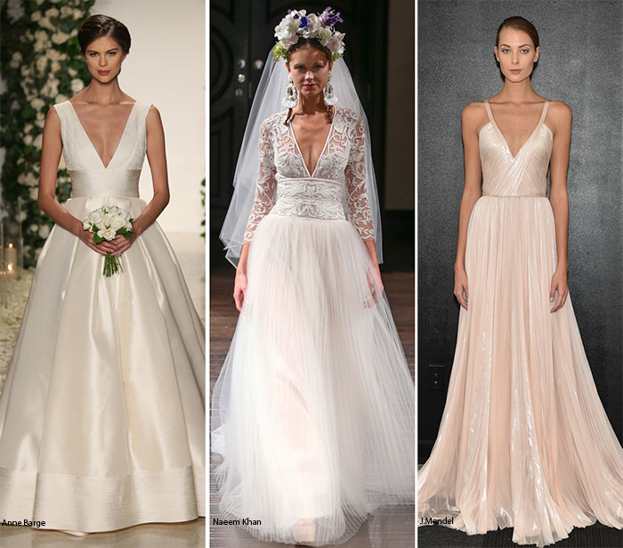 Fall 2016 Bridal Trends: Wedding Dresses With Plunging Necklines