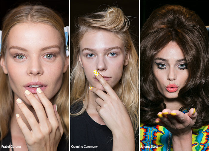 Spring/ Summer 2016 Nail Trends: Yellow Manicure