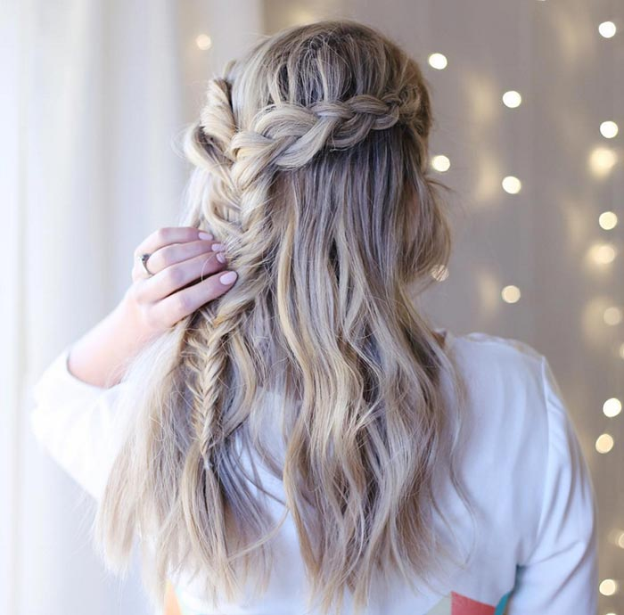 Trendiest Braided Hairstyles 2016: Half Up Braids
