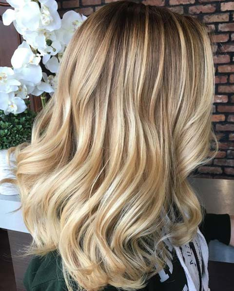 Balayage Hair Color Ideas With Blonde Highlights