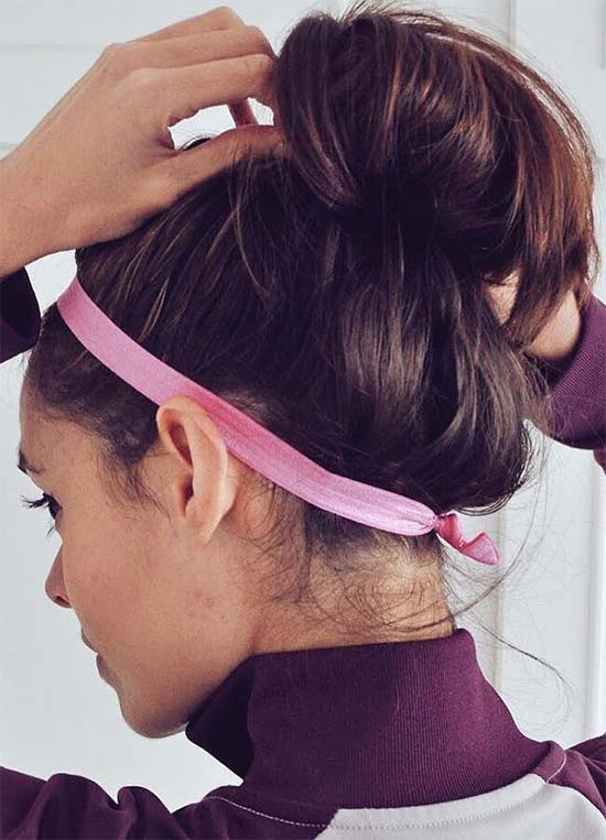 Lazy Gym Top Knot with Headband