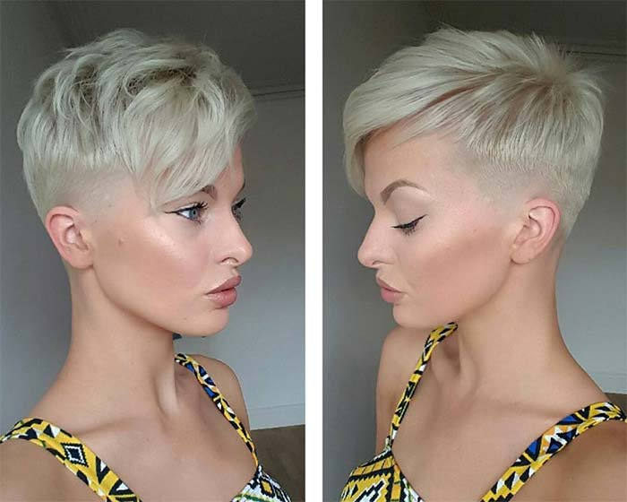 Short Hairstyles for Women: Blonde Pixie
