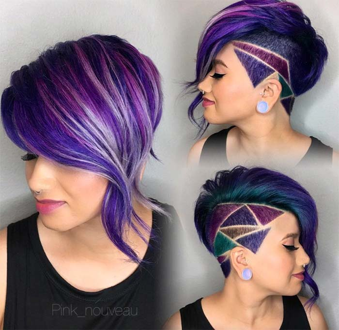 Short Hairstyles for Women: Diamond Undercut