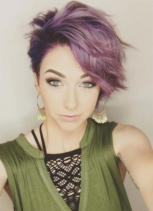 Short Hairstyles for Women: Wavy Pixie