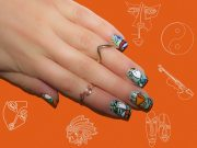 abstract artistic nail art design