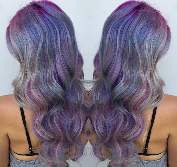 Pastel and Neon Hair Colors in Balayage and Ombre: Mermaid Balayage Hair
