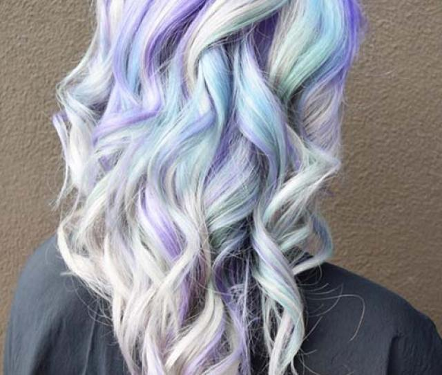 Pastel And Neon Hair Colors In Balayage And Ombre Lilac Hair