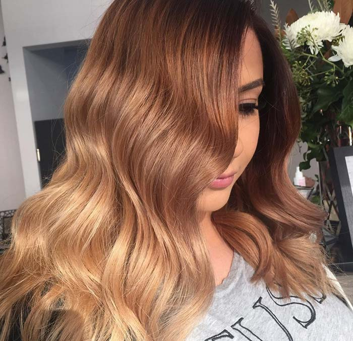 65 Rose Gold Hair Color Ideas for 2017