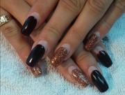 stylish acrylic nail design