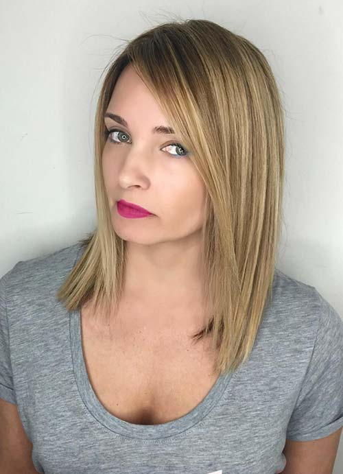 Short Hairstyles for Women with Thin/ Fine Hair: Straight Long Bob