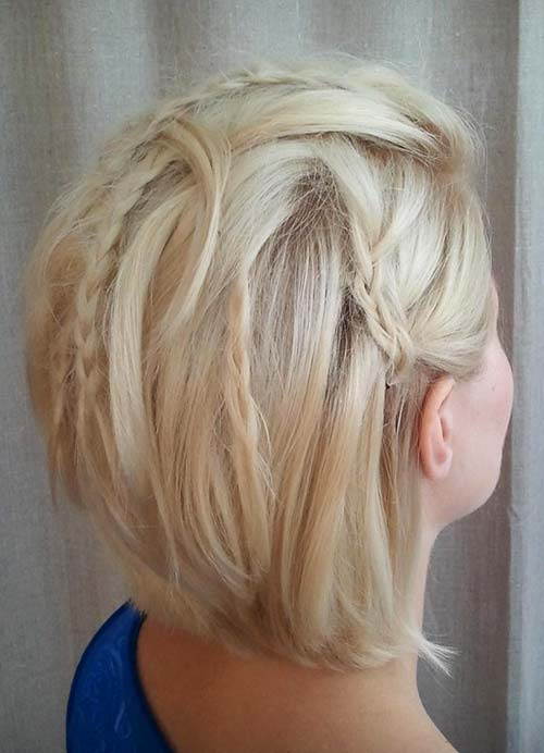 Short Hairstyles for Women with Thin/ Fine Hair: Braided Bob
