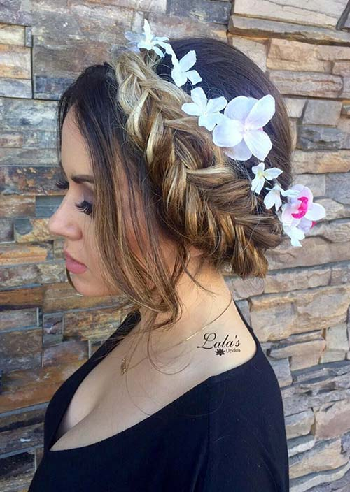 100 Trendy Long Hairstyles for Women: Crown Braid