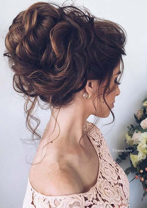 100 Trendy Long Hairstyles for Women: Textured Updo