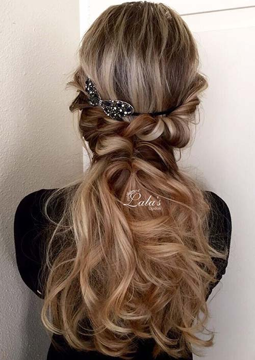 100 Trendy Long Hairstyles for Women: Wavy Twisted Hair